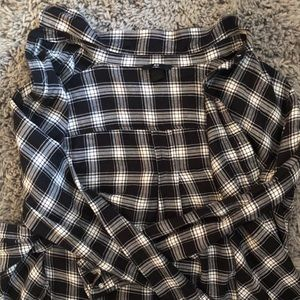 BLACK AND WHITE H&M FLANNEL